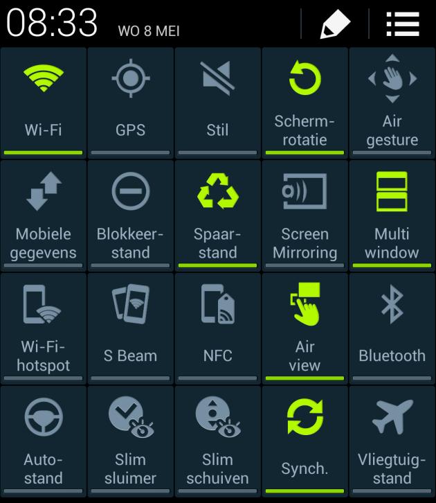 APPS OP DE ACHTERGROND UITZETTEN SAMSUNG S9