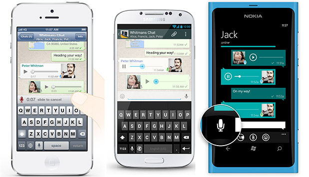 Whatsapp lanceerd spraakberichten met nieuwe update