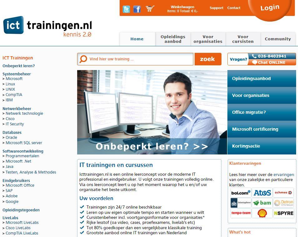 ICTtrainingen Life Long Learning