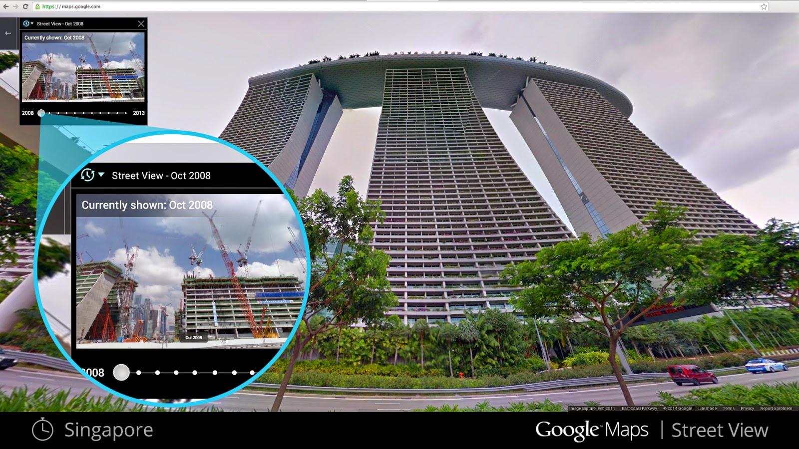 Google Street View time machine