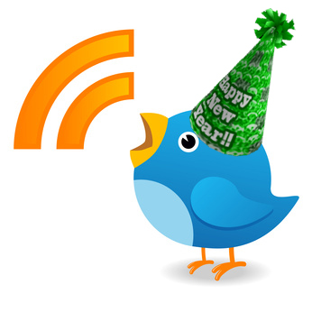 Twitter bird happy new year