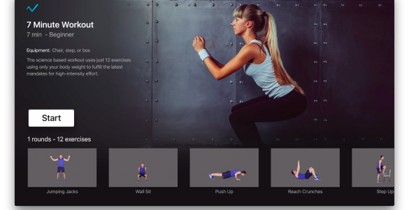 7 minute workout appleTV
