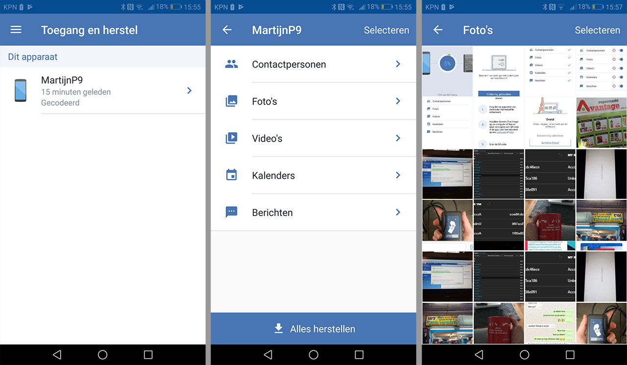 Acronis mobile Synology 04
