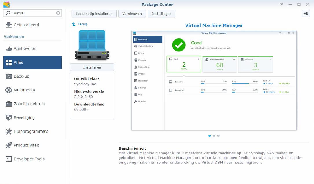 Synology Virtual Machine Manager installatie 01