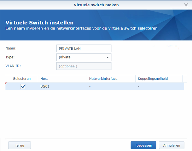 Synology Virtual Machine Manager installatie 10