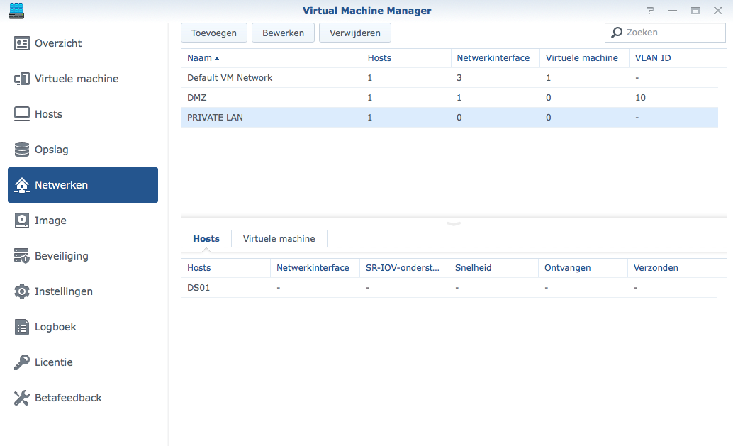 Synology Virtual Machine Manager installatie 10b