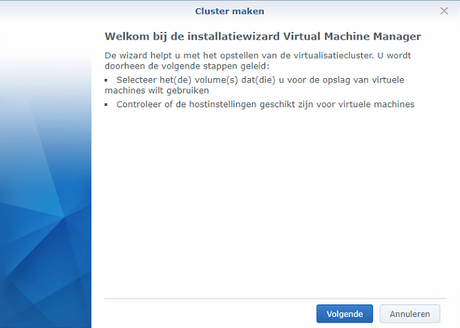 Synology Virtual Machine Manager installatie 02