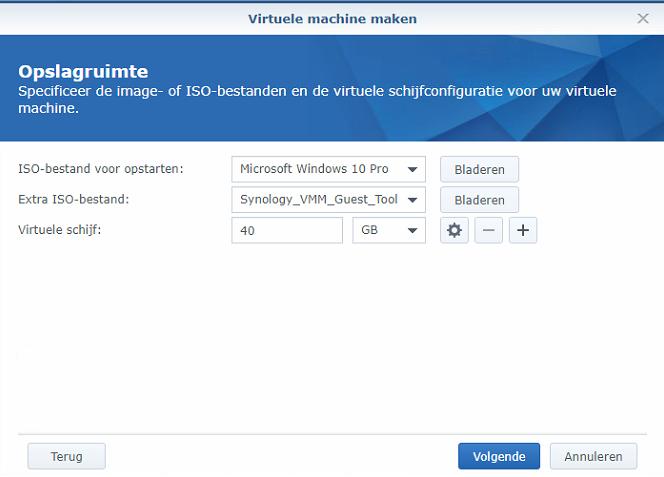 Synology Virtual Machine Manager nieuwe VM 04