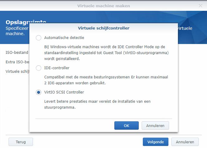 Synology Virtual Machine Manager nieuwe VM 05