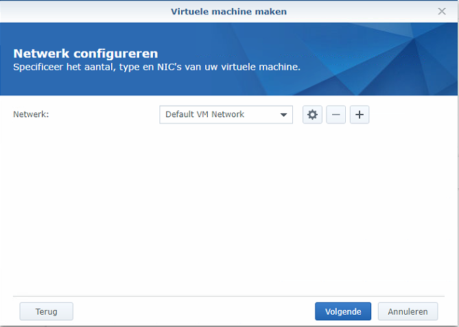 Synology Virtual Machine Manager nieuwe VM 06