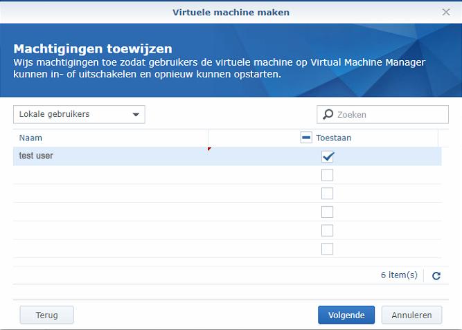 Synology Virtual Machine Manager nieuwe VM 08
