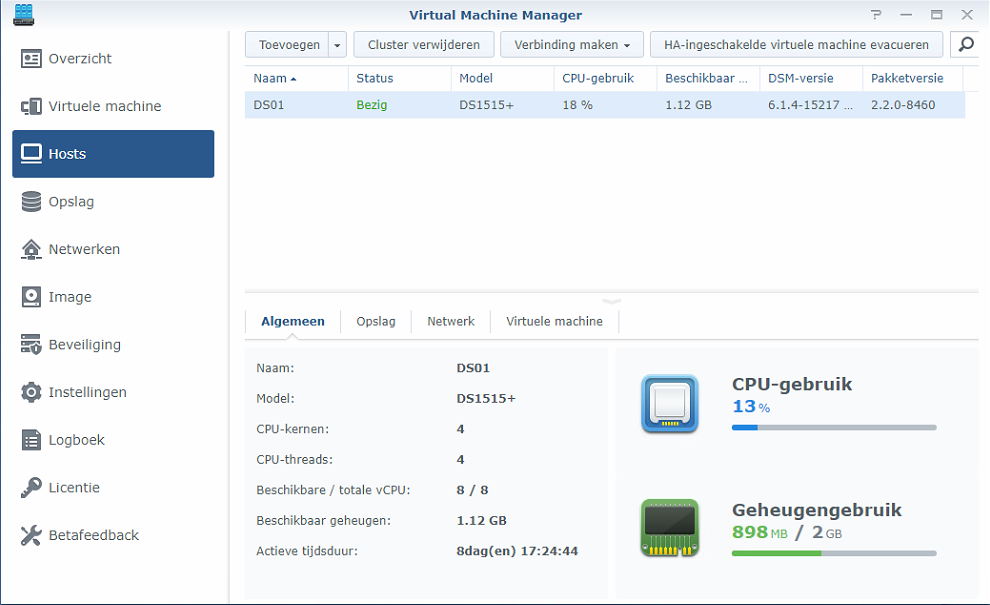 Synology Virtual Machine Manager installatie 07