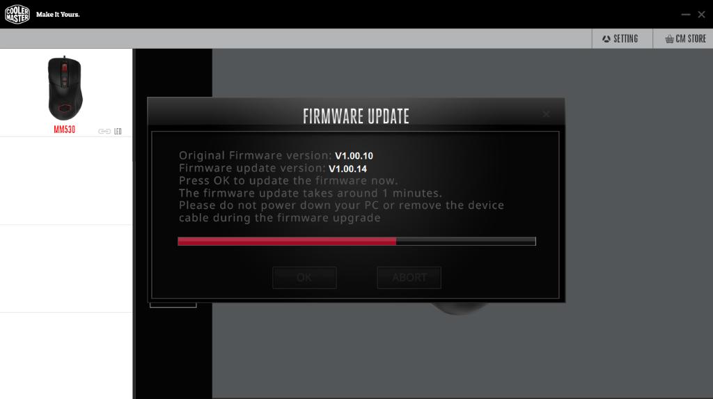 firmware update MM530