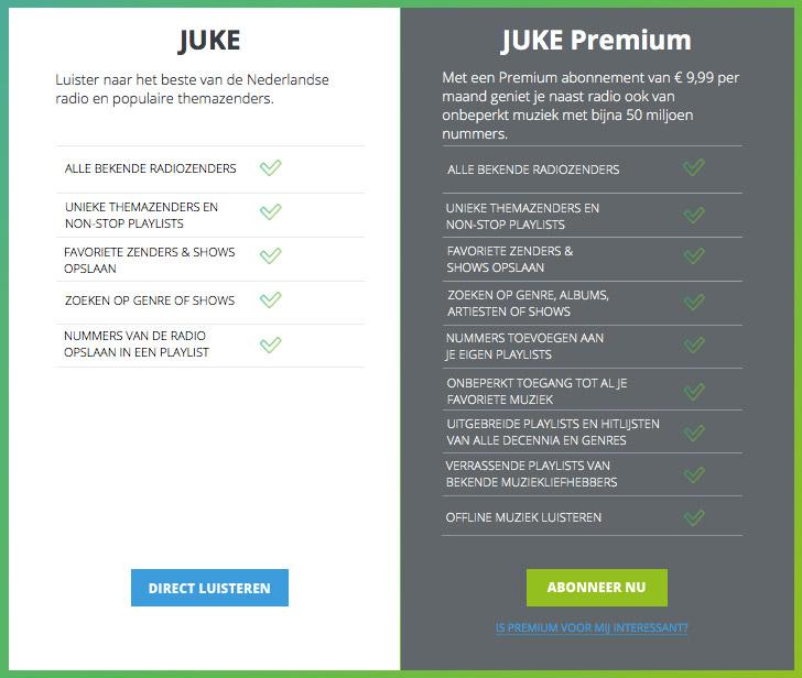 Juke en Juke Premium