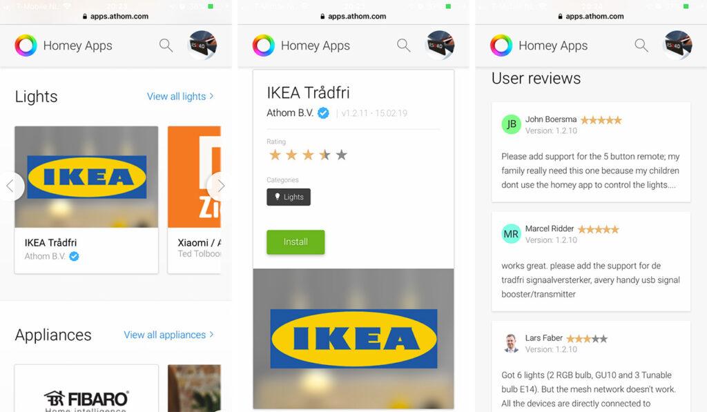 Homey App Ikea Tradfri