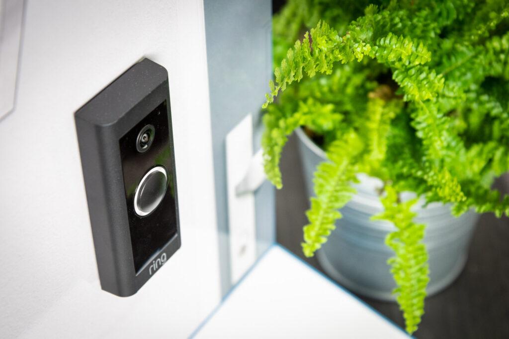 Ring Video Doorbell Wired slank design bovenkant