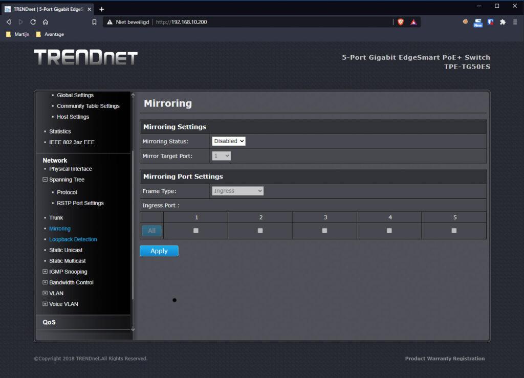 TRENDnet Switch 10