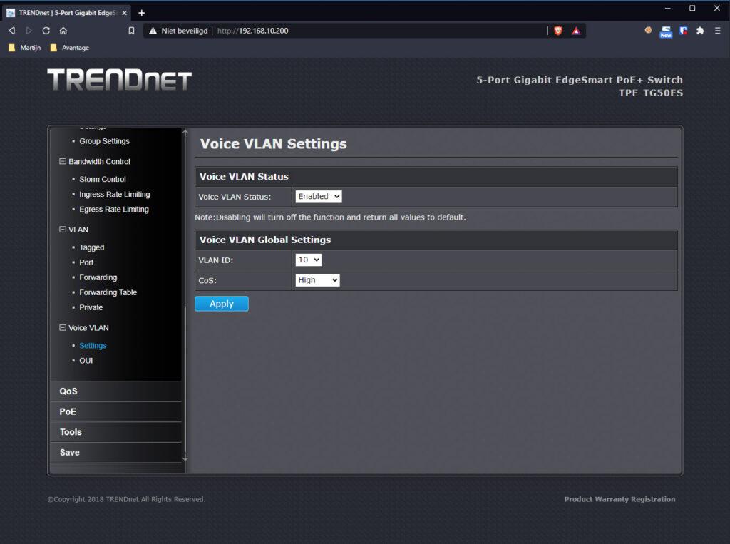 TRENDnet Switch 12